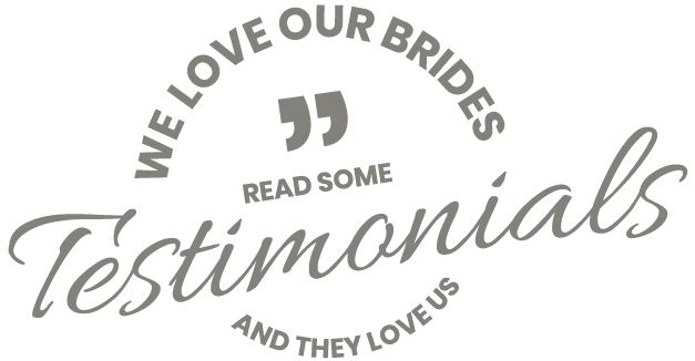Second Dance - Graphic that reads We Love Our Brides and they love us, Read Some Testimonials